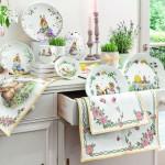 Столовая дорожка XL Цветы, гобелен 49x143 см Spring Fantasy Villeroy & Boch