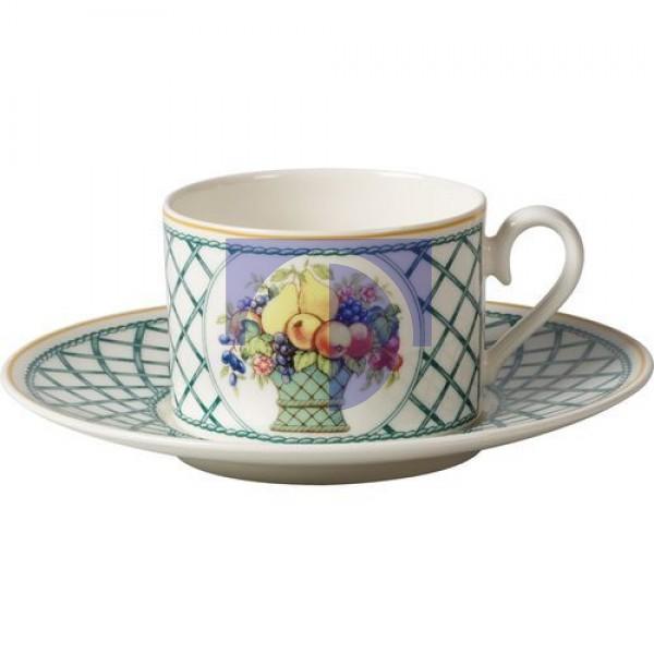 Чашка чайная 0,2 л с блюдцем 16 см Basket Garden Villeroy & Boch