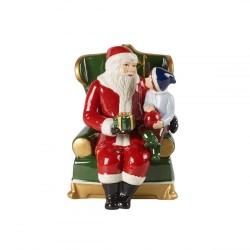 Фигурка Санта в кресле 15 см музыкальная Christmas Toys Villeroy & Boch