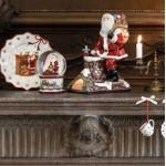 Музыкальная фигурка, подсвечник для чайной свечи Санта на крыше