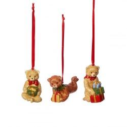 Подвески Мишки Тедди, набор из 3 предметов Nostalgic Ornaments Villeroy & Boch