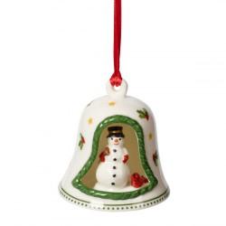 Подвеска Колокольчик со снеговиком 7 см My Christmas Tree Villeroy & Boch