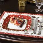 Тарелка для завтрака квадратная красная 24 см Toy's Delight Villeroy & Boch