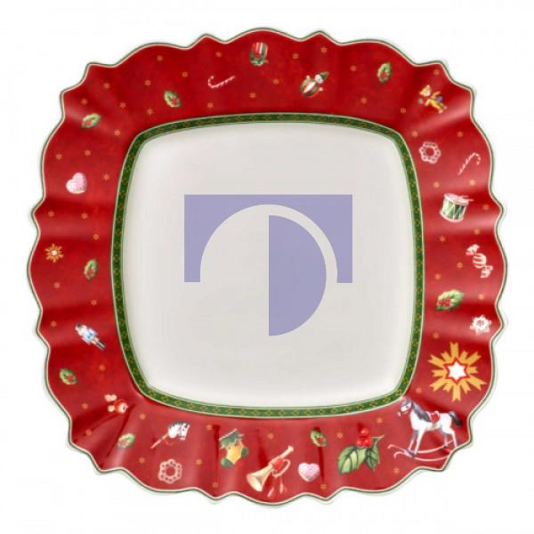 Тарелка столовая квадратная красная 28 см Toy's Delight Villeroy & Boch