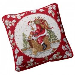 Гобеленовая подушка Санта на крыше 45x45 см Toys Fantasy Villeroy & Boch