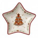 Блюдо в форме звезды, мотив Елка 13 см Winter Bakery Delight Villeroy & Boch