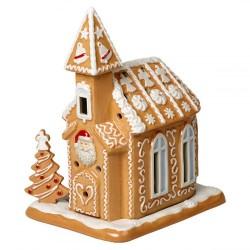 Пряничная церковь 17x13x20 см с чайной свечей Winter Bakery Decoration Villeroy & Boch
