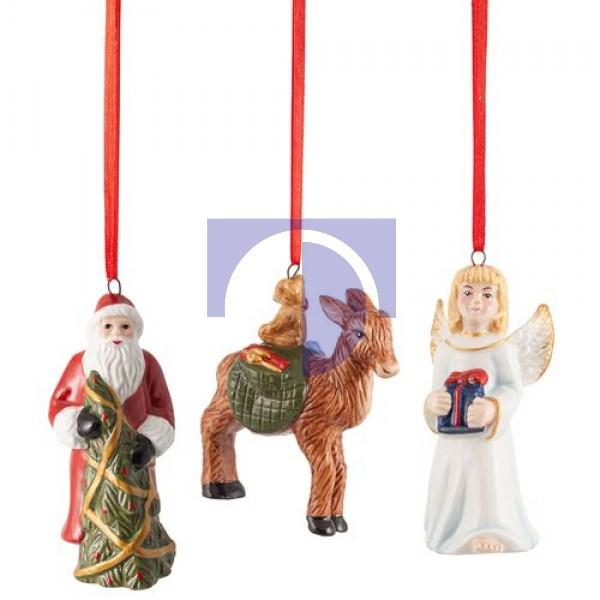 Подвески Санта, Ангел, Олень, набор из 3 предметов Nostalgic Ornaments Villeroy & Boch