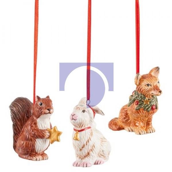 Подвески Белка, Заяц, Лиса, набор из 3 предметов Nostalgic Ornaments Villeroy & Boch