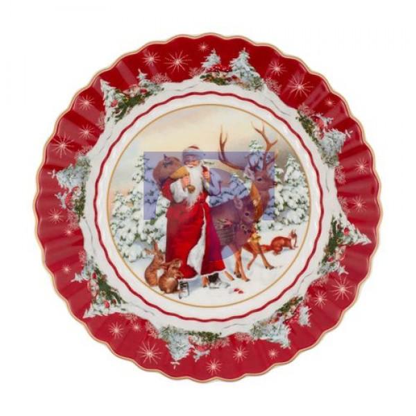 Пиала большая Санта с лесными животными 25 см Toys Fantasy Villeroy & Boch