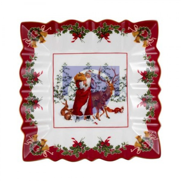 Пиала квадратная Санта с лесными животными 23x23 см Toys Fantasy Villeroy & Boch