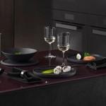 Набор посуды 7 предметов белый & черный Iconic La Boule Villeroy & Boch