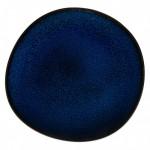 Тарелка для завтрака 23 см синяя Lave Bleu Villeroy & Boch
