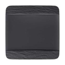 Тарелка квадратная 28 см Manufacture Rock Villeroy & Boch