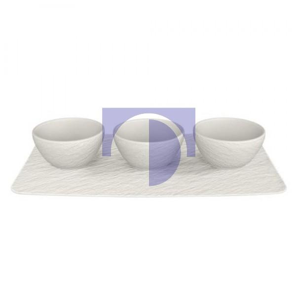 Набор емкостей для соусов 4 предмета  Manufacture Rock blanc Villeroy & Boch