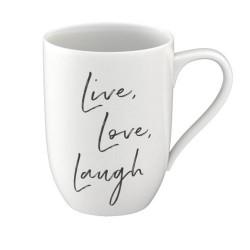 Кружка 0,34 л Live, Love, Laugh - Statement Villeroy & Boch