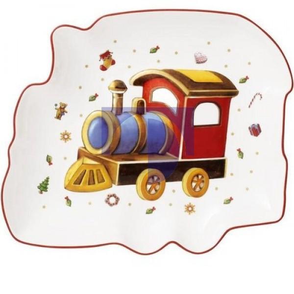 Блюдо Рождественский поезд 25,5x22 см Toy's Delight Villeroy & Boch