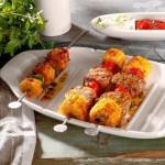 Блюдо сервировочное L с отделом для шпажек 41x22 см и шпажки 28 см 6 шт. в наборе BBQ Passion Villeroy & Boch