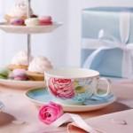 Чайная чашка с блюдцем голубые Rose Cottage Villeroy & Boch