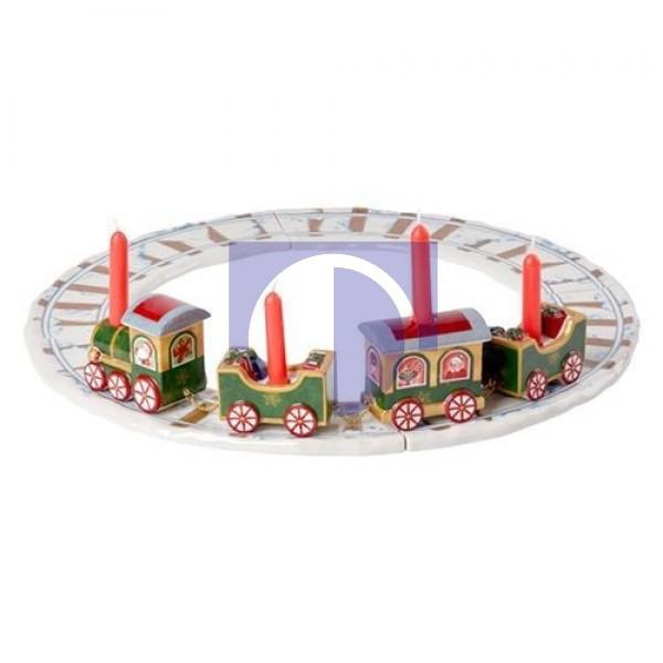 Фигурка-подсвечник Поезд с рельсами 42 см с 4 свечами North Pole Express Villeroy & Boch