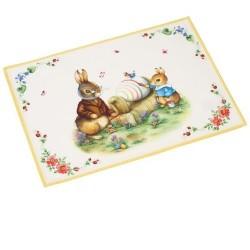 Коврик под тарелку Кролики Дедушка Ханс и Макс 35х50 см Spring Fantasy Villeroy & Boch