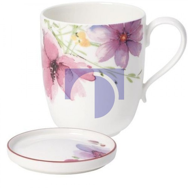 Кружка с ручкой 0,43 л с подставкой для чайных пакетиков Mariefleur Tea Villeroy & Boch