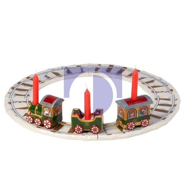 Локомотив с рельсами и 3 свечи 42 см North Pole Express Villeroy & Boch