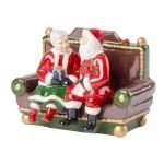 Миссис и Мистер Санта с мелодией We wish you a Merry Christmas Christmas Toys Villeroy & Boch