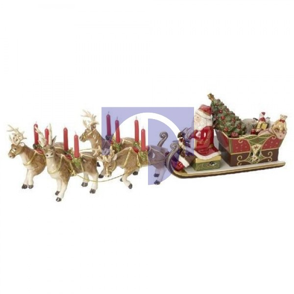 Музыкальная фигурка Санта Клаус на санях, 6 предметов, 70 x 22 x 16 см Christmas Toys Memory Villeroy & Boch