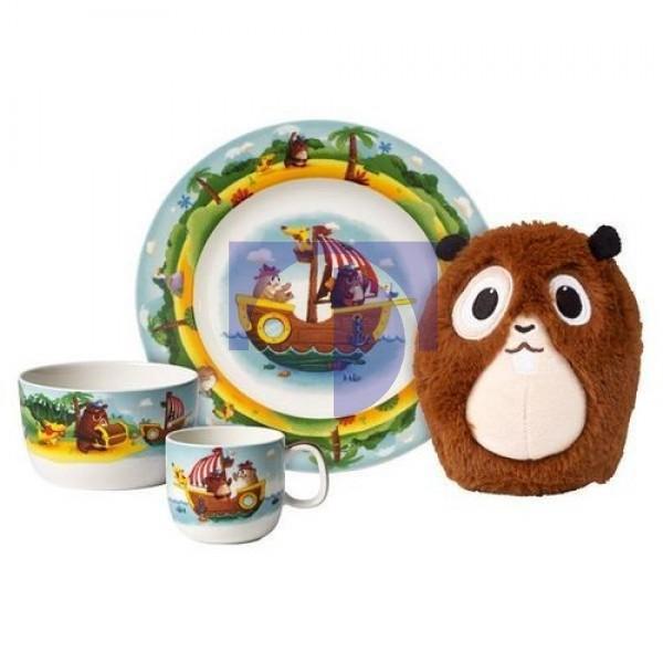 Набор детской посуды 4 предмета Chewy's Treasure Hunt Villeroy & Boch