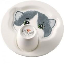 Набір дитячого посуду Кішка: тарілка 22 см з кухлем 0,2 л Animal Friends Villeroy & Boch