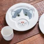 Набор детской посуды Кошка: тарелка 22 см с кружкой 0,2 л Animal Friends Villeroy & Boch