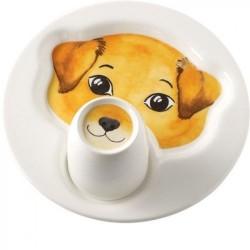 Набір дитячого посуду Собака: тарілка 22 см з кухлем 0,2 л Animal Friends Villeroy & Boch