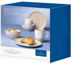 Набор для завтрака на 2 персоны 6 предметов Artesano Nature Beige Villeroy & Boch