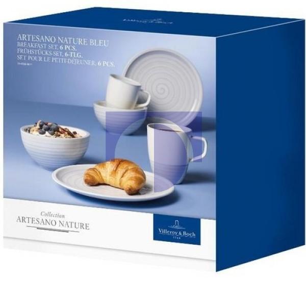 Набор для завтрака на 2 персоны 6 предметов Artesano Nature Bleu Villeroy & Boch