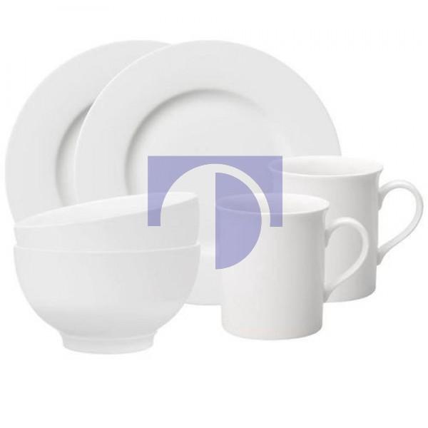 Акция! Набор для завтрака на 2 персоны из 6 предметов Twist White Villeroy & Boch