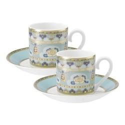 Набор из чашки и блюдца для эспрессо из 4 предметов Samarkand Aquamarin Villeroy & Boch
