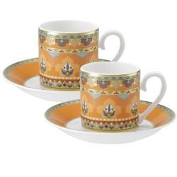 Набор из чашки и блюдца для эспрессо из 4 предметов Samarkand Mandarin Villeroy & Boch