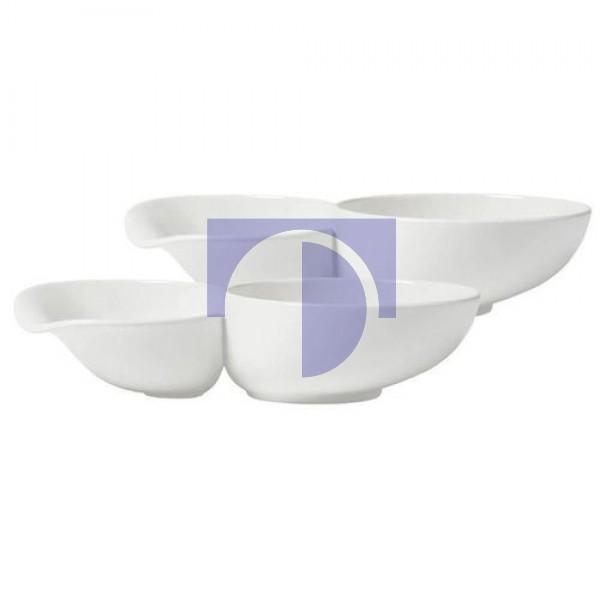 Набор из двух суповых чаш с отделением для хлеба 23,3 x 13,3 x 0,52 см Soup Passion Villeroy & Boch