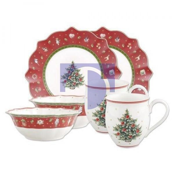 Набор посуды для завтрака красный на 2 персоны Toy's Delight Villeroy & Boch