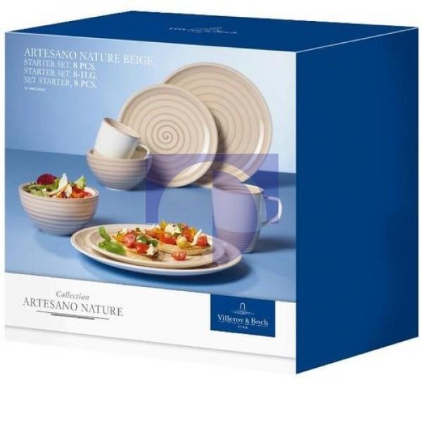 Набор посуды на 2 персоны 8 предметов Artesano Nature Beige Villeroy & Boch