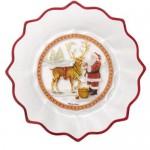 Пиала Санта с оленем хрусталь 25 см Christmas Glass Accessories Villeroy & Boch