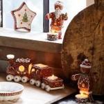 Подсвечник Пряничный человечек 17 см с чайной свечой Winter Bakery Decoration Villeroy & Boch
