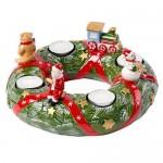 Подсвечник Рождественский венок 23 см Christmas Toys Memory Villeroy & Boch