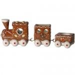 Пряничный поезд 29x7,5x10 см с тремя чайными свечами Winter Bakery Decoration Villeroy & Boch
