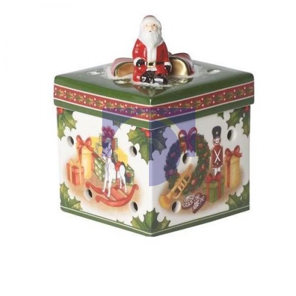 Шкатулка - подсвечник для чайной свечи Игрушки 9x9x13,5 см Christmas Toys Villeroy & Boch
