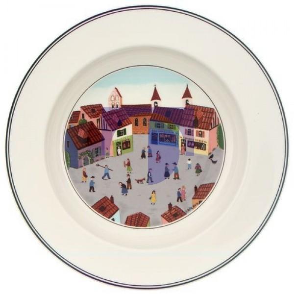 Суповая тарелка Деревня 21 см