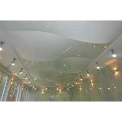Натяжной потолок - объемная форма волна с конструктивом