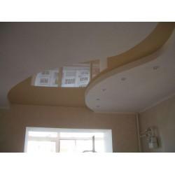 Натяжной потолок с острым углом