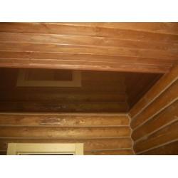 Натяжной потолок в деревянный дом